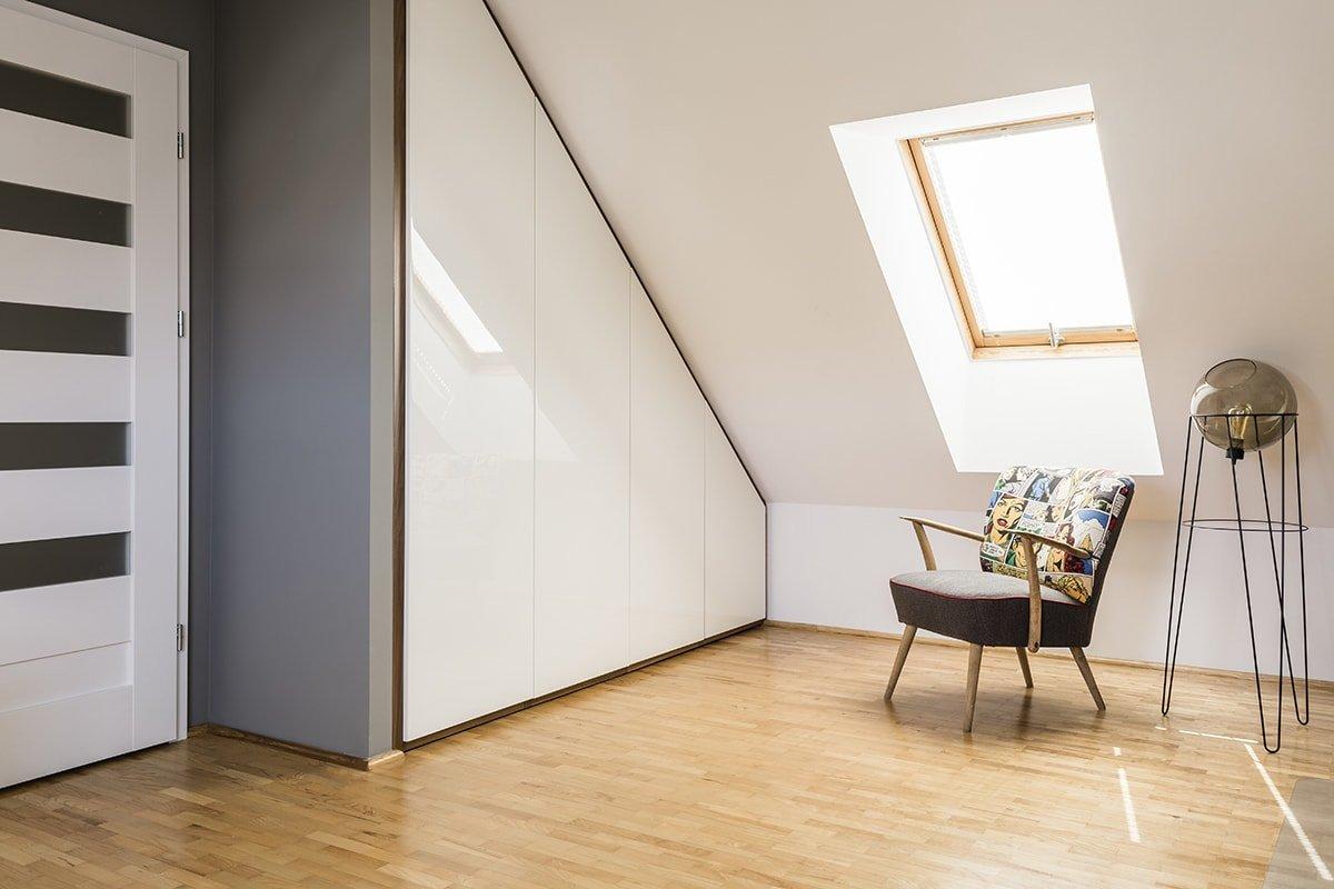 Attic sitting area by window
