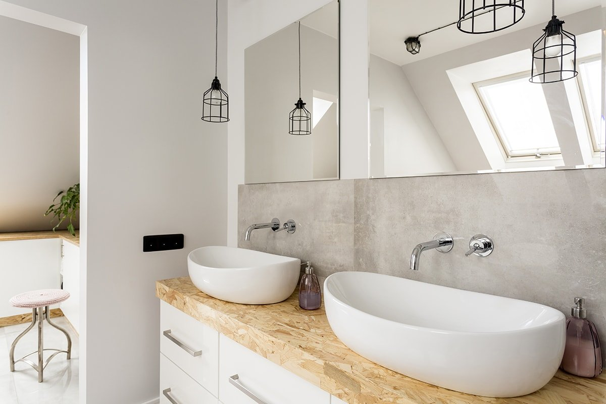 Minimal bathroom sinks