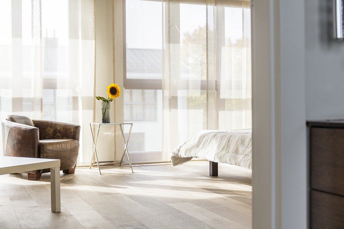 Bright natural bedroom