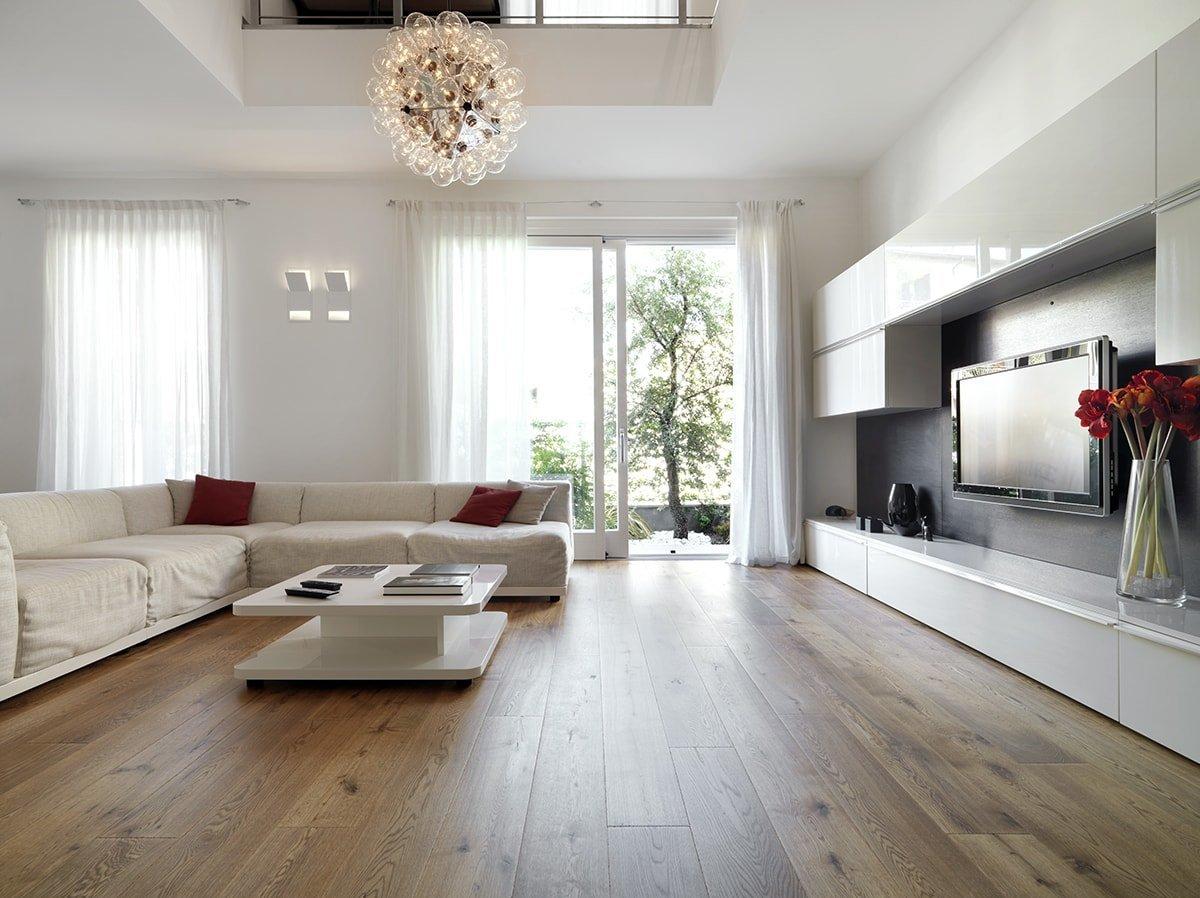 Clean modern living room