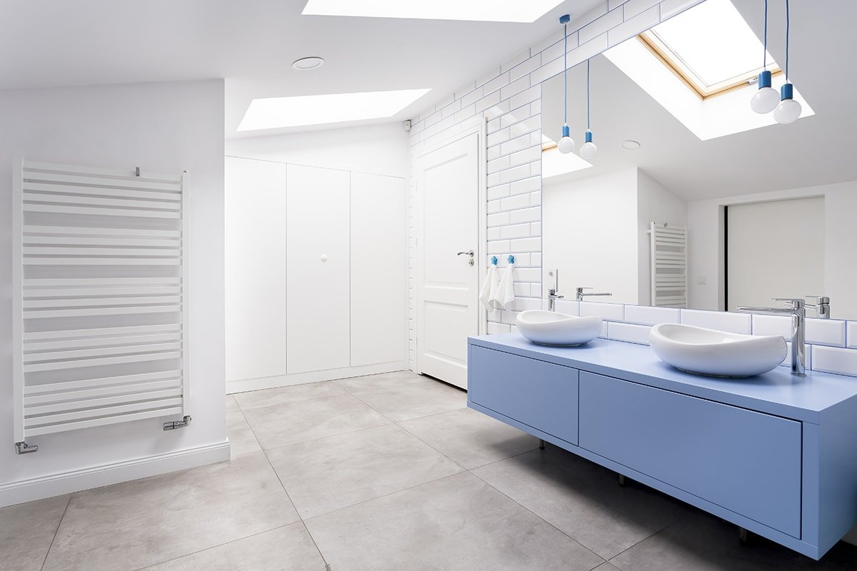 Loft bathroom interior