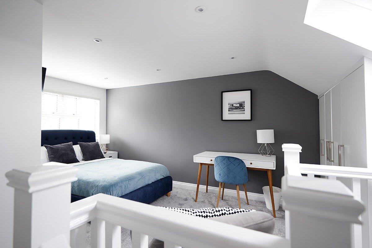 Newly renovated loft bedroom