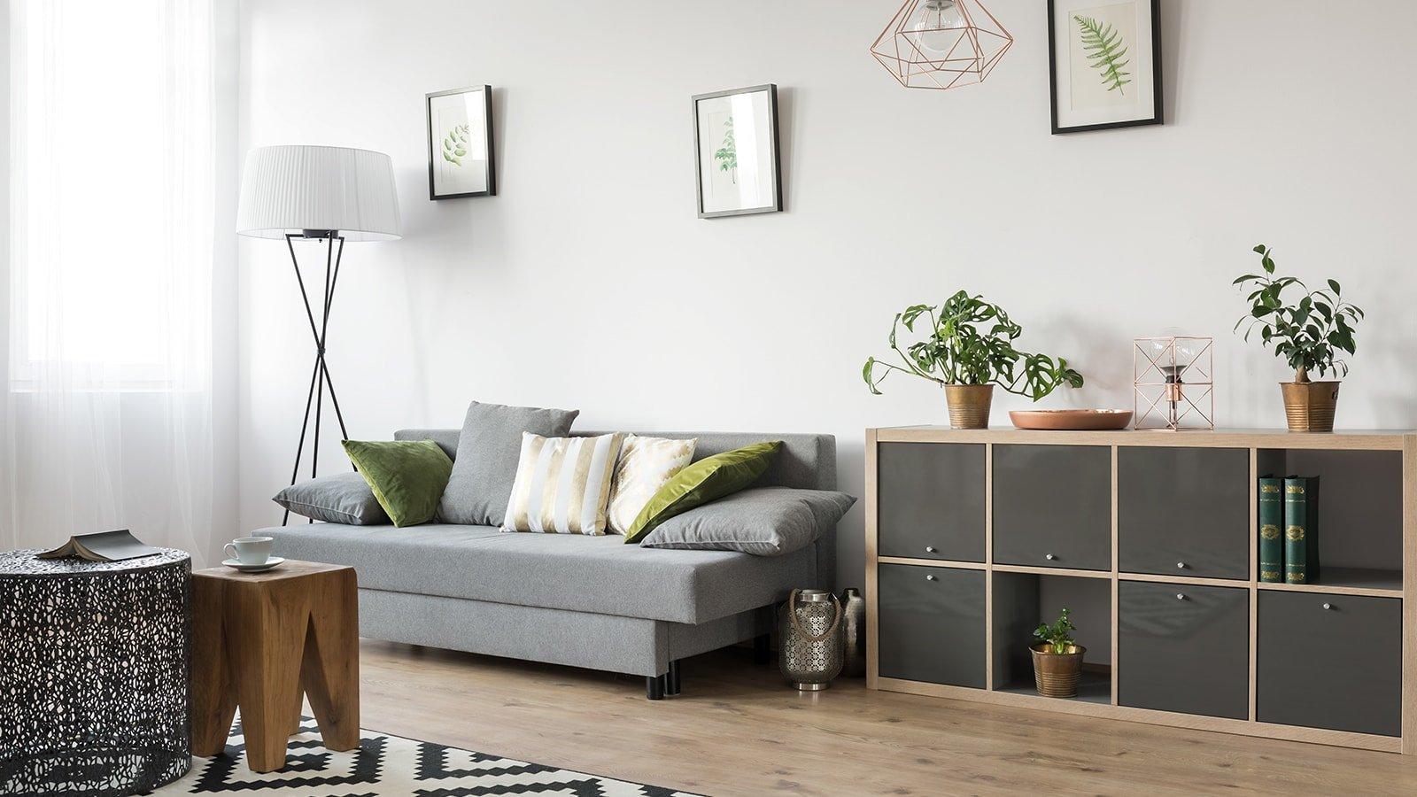 Neutral themed living room