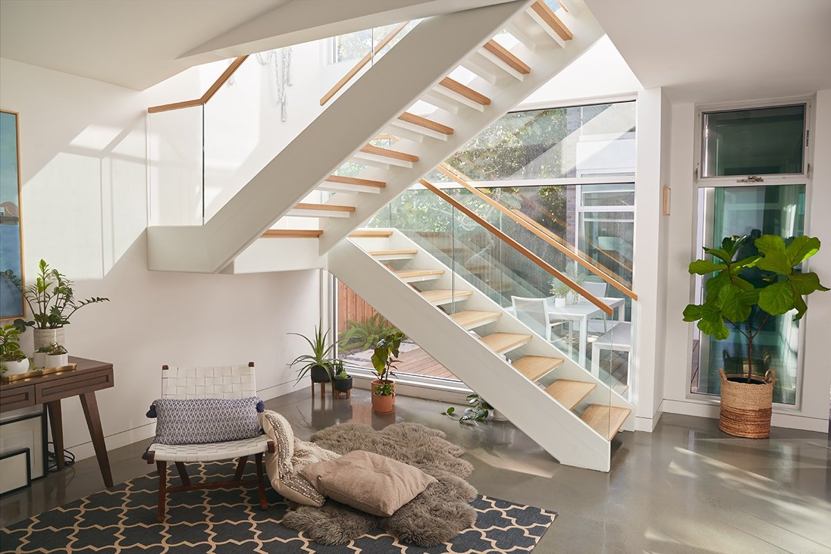 Beautiful glass staircase