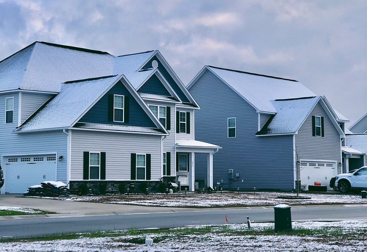 Houses with snow