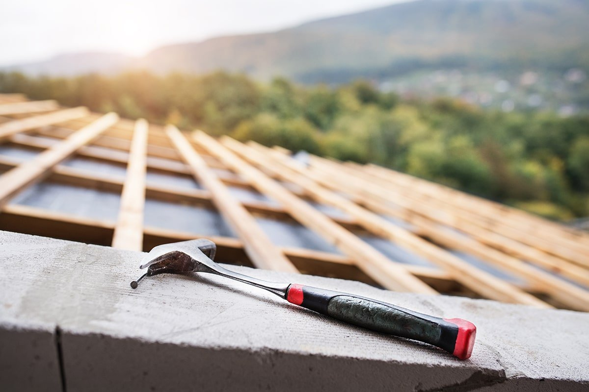 Hammer on roof repair