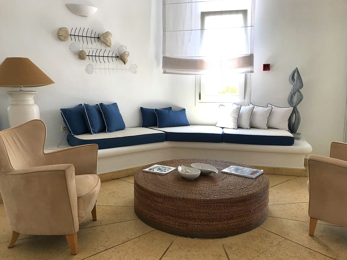 Waiting room in Greece