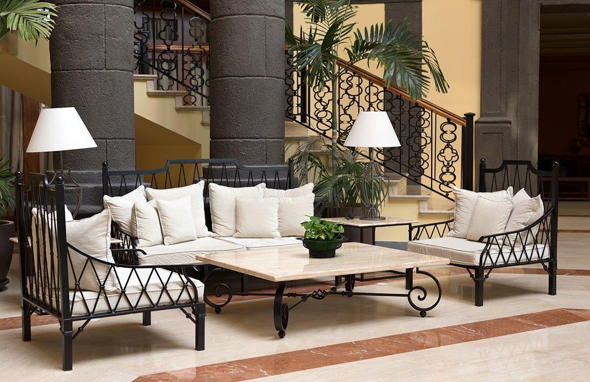 Tropical lobby waiting area