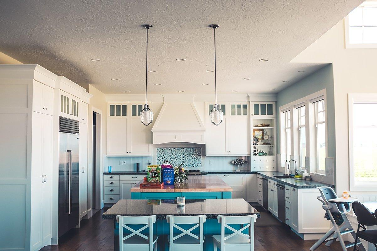 Bright kitchen interior