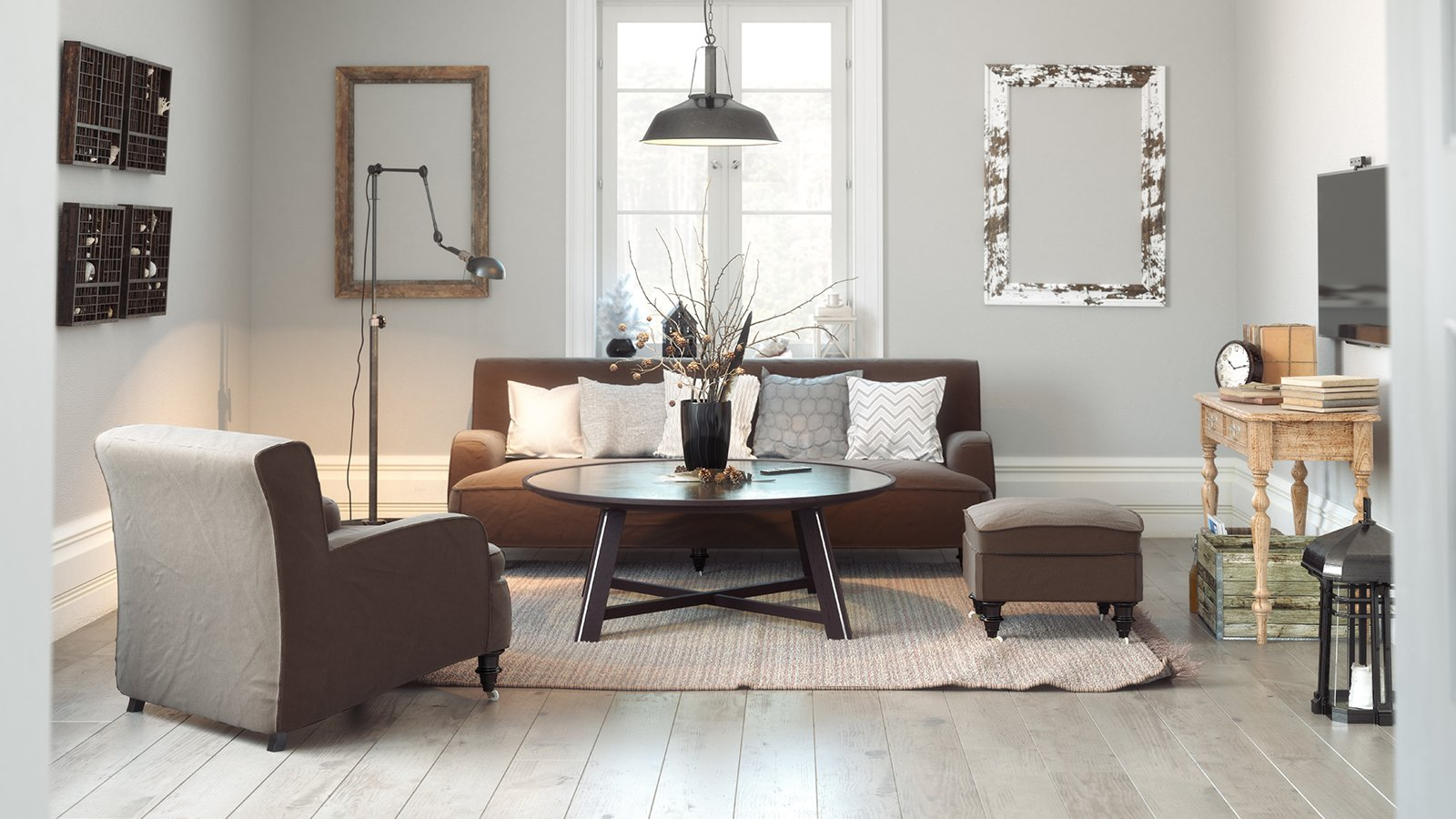 Minimalistic scandinavian living room
