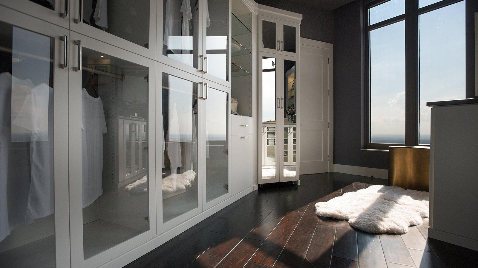 Master closet in fancy condo